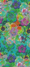 "Neon Hawaiian Beach Towels Wholesale with colorful hibiscus flowers 28""x58"" - Pack of 6 @ $6.20 each; Case of 12 @ $5.85 each"