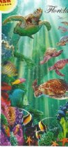 "28""X58"" Fiber reactive wholesale Turtle Voyage towels turtles swimming in ocean with reef fish - Pack of 6 @ $6.20 ea; Case of 12 @ $5.85 each"